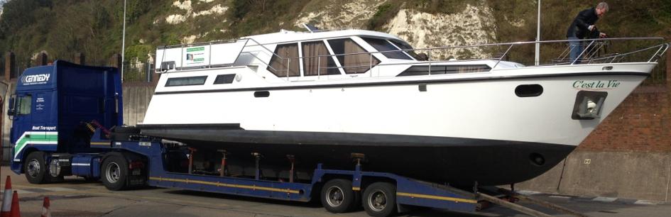 Boat Transport Haulage Truck