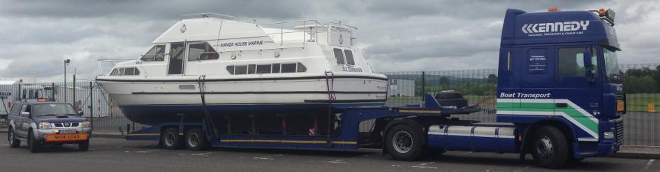Boat Transport Truck